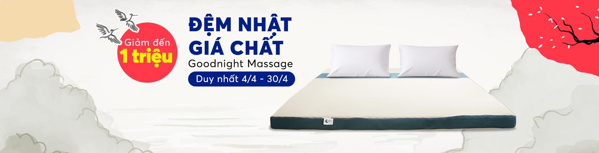 Đệm Foam Goodnight Massage Nhật Bản